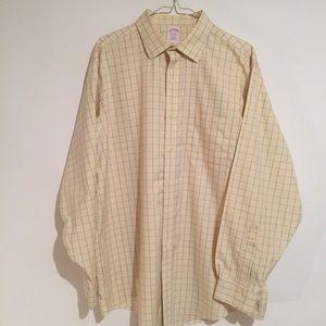 Brooks Brothers XL 17-35 Dress Oxford Suit Shirt